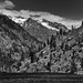 Mountain Peaks of the North Cascades (Black & White)
