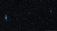 Mirach and her Attendants (khoa_sus2) Tags: astrophotography astronomy montmegantic galaxy triangulum andromeda mirach star night sky m33 m31 m32 m110 olympus pen epl7 mzuiko 45mm f18