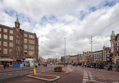 Muntplein (Jack Landau) Tags: amsterdam houses dutch apartment buildings city urban density midrise canon 5d facades jack landau sky road building architecture canal river water boat tree people