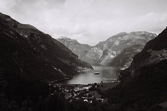 Geiranger, Norway (no.sad.tomorrow) Tags: geiranger norway norde geirangerfjord traveling traveler trip travel travelphotography mountains rocks nature landscape landscapephotography naturaleza planet earth wonderfulearth water fjords fjord village exploring film filmphotography analogphotography analog analogue yashika yashikafx3 super2000 ilfordsuper ilford xp400
