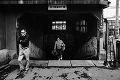 city 650 (soyokazeojisan) Tags: japan osaka city street bw people blackandwhite monochrome analog olympus m1 om1 21mm film trix kodak 1970s 1975