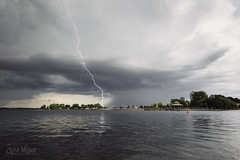 Striking Down!! (wilbias) Tags: lightning day hamilton harbour pier 4 park bayfront water thunder bolt canada storm summer lake ontario