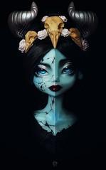 Dolltober Day 25 : Cursed. (Chantepierre) Tags: bjd balljointed doll balljointeddoll mystic dolls lyséria fc fullcusto full custo custom chantepierre ladicius goth gothic demon dolltober2018 dolltober 2018