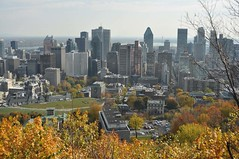 Montreal view in Fall (Lorraine Goh) Tags: mont royal sentier escarpement city life downtown buildings reservoir mcgill montain hike