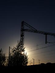 evening and rail (Darek Drapala) Tags: railway rail railroad evening sun sky silhouette sunset skyskape industrial panasonic poland polska panasonicg5 lumix light