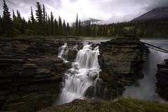 Be Careful (VanveenJF) Tags: voigtlander jasper canada alberta sony heliarlll water river rocks sky trees waterfall