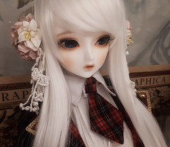 Little Monica Harmony Sarubia (o_lillet_o) Tags: little monica lm harmony sarubia bjd sd 13 white leeke wig ws mako eyes oz013 doll