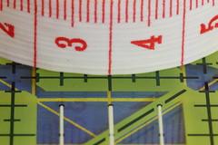 Three Measurements (steve_whitmarsh) Tags: macro measure art colour red green yellow blue white mondays measurement macromondays topic