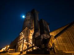 Moonlit Mustard. (Nomadic Complacency) Tags: industrial industrialarchitecture night nightphotography urbex moon illumination industrialurbex sony sonyalpha