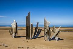 Les Braves on Omaha Beach (Alida's Photos) Tags: omahabeach normandy france wwii dday lesbraves art sculpture