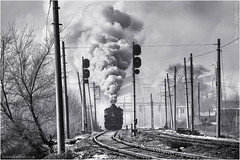 Wulong Winter (channel packet) Tags: china steam train railway railroad wulong winter smoke locomotive transport coal mine sy monochrome davidhill