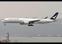 A350-1041 | Cathay Pacific | B-LXB | HKG (Christian Junker | Photography) Tags: nikon nikkor d800 d800e dslr 70200mm aero plane aircraft airbus a3501041 a3501000 351 a35k a350 cathaypacificairways cathaypacific cathay cx cpa cx618 cpa618 cathay618 blxb oneworld heavy widebody arrival landing 25r strobe fog haze airline airport aviation planespotting 169 hongkonginternationalairport cheklapkok vhhh hkg clk hkia hongkong sar china asia lantau terminal2 t2 skydeck christianjunker flickraward flickrtravelaward zensational hongkongphotos worldtrekker superflickers
