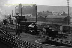 Perth HR loco yard, Loch on TT lead ca 1930 (Ernies Railway Archive) Tags: perthstation cr nbr hr lms lner scotrail