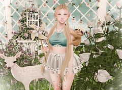 Flower Power (Gabriella Marshdevil ~ Trying to catch up!) Tags: sl secondlife cute kawaii doll caboodle halfdeer foxy catwa