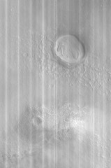 In the Northern Plains of Mars (sjrankin) Tags: 5october2018 edited nasa mars mro marsreconnaissanceorbiter grayscale 1675mb large layered structure esp0566622160red northernplains