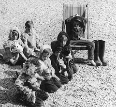 The Director is having a rest (theirhistory) Tags: jumper jacket trousers wellies costume school class form pupils boy children kids boots