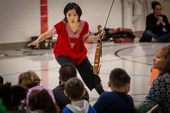 Silk Road Project at Madison Elementary (Phil Roeder) Tags: desmoines iowa desmoinespublicschools madisonelementaryschool turnaroundarts preetivasudevan shawpongliu dance dancer violin violinist music school students canon6d canonef70200mmf4lusm