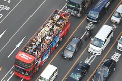 Sky Bus (seiji2012) Tags: 東京 観光バス 乗客 銀座 交通 tokyo ginza sightseeingbus passenger traffic car red