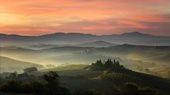 Ceaseless Patterns (thomasharrisphotography) Tags: italy landscape summer tuscany valdorcia sunrise landscapes italia mist misty