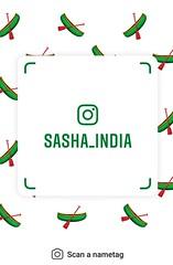example of nametag for Instagram (Sasha India) Tags: instagram nametag instatag tag name sashaindia дизайн qrcode design 設計 디자인 التصميم σχέδιο डिज़ाइन வடிவமைப்பு desenhar projekt עיצוב desain boat
