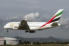 Airbus A380-861 A6-EDG Emirates (msd_aviation) Tags: airbus airbusa380 a380 a388 a380800 emirates flyemirates landing bcn lebl barcelona elprat airport aviation aviation4u aviationpics airplanes aircraft planespotting planespotters