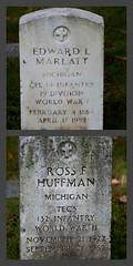 Vets (Just Say Jules!) Tags: photochallenge october cemetery graveyard oakwoodcemetery saginawmichigan tombstone