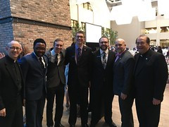 St. Mark Seminary alumni, current student and faculty at the Cure d'Ars dinner in Buffalo, October 4, 2018