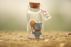 Tiny message in a bottle,Miniatures,Personalised gift,Valentine Card,Gift for her/him,Girlfriend gift, birthday card, holiday card and funny card ideas (charles fukuyama) Tags: bear tdeeybear christmas xmas ornament handmadecard decoration custommade unique cute art holidaycard homedecor deskdecor glitter lovecard sweet greetingscard paper seasonalcard partygift personalizedgift longdistancegift kikuikestudio tiny anniversarycard balloon