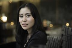 Street portrait, unknown woman in Bangkok (jonasfj) Tags: thaigirl thai girl woman thailand bangkok southeastasia asian nikond750 50mmf14d normallens hiltonhotel lobby streetportrait stranger bokeh