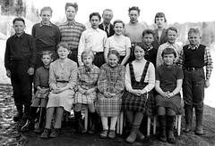 Class photo (theirhistory) Tags: class school form pupils teacher boy children kids girls jumper trousers jacket shoes wellies dress skirt rubberboots