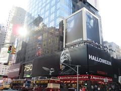 Halloween 2018 Movie Billboard 3133 (Brechtbug) Tags: halloween 2018 movie billboard horror film billboards nyc 10202018 new york city michael myers jamie lee curtis judith john carpenters no dr samuel sam loomis doctor adventure holiday 7th ave avenue 50th st street standee monster killer knife slasher 1978 was original 40 years ago
