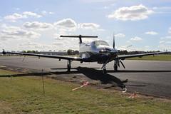 IMG_9657 (routemaster2217) Tags: northweald aviation aeroplane aircraft propellerplane turboprop bizprop propliner airliner pilatuspc12 gdyln