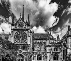 Notre Dame de Paris / Нотр Дам де Пари (dmilokt) Tags: церковь храм собор church chapel kirk cathedral temple sanctuary shrine dmilokt чб bw черный белый black white город city town nikon d750 paris париж