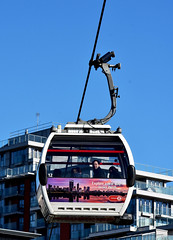 Passengers on the cable car (Travis Pictures) Tags: london eastlondon newham transportforlondon transport cablecar emiratesairline publictransport royaldocks docklands capitalsoftheworld capitalcity nikon d7200 photoshop sunny outdoors