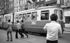 Senseless vandalism (railfan3) Tags: amsterdam amsterdamsetrams amsterdamrellen1969 koninginnedagrellen1969 amsterdamse amsterdams volksoproer provosamsterdam gvb damrak civilriotsunrest 1969 lijn4 gvb616 gemeentevervoersbedrijf vandalisme vandalism damagedtrams smashedinwindows ingegooideruitentrams trams trolleys tramcars tramway publictransport openbaarvervoer triebwagen tramwagens trammaterieel beijnestrams retrotrams retroamsterdam vintagetrams grijzetrams streetcars strassenbahnwagen tramsundersiege nederlandse nederland tramrijtuigen strasenbahn streetscene streetphotography