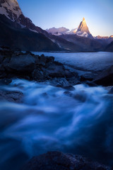 Matterhorn Sunrise (AirHaake) Tags: europe alps swissalps matterhorn mountain surise blue clearsky idyllic water longexposure