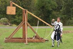 Trebuchet Demonstration (Itinerant Wanderer) Tags: pennsylvania buckscounty wrightstown villagerenaissancefaire