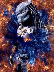 the predator (timp37) Tags: photolab illinois 2015 august wizard world comic con rosemont chicago predator cosplayer cosplay fire
