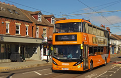 Nottingham City Transport 447 (SRB Photography Edinburgh) Tags: nottingham city transport orange bus buses uk england travel road