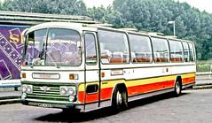 Armchair, Brentford: WRO439S on Hampton Court Station forecourt (Mega Anorak) Tags: bus coach aec reliance 6u3zr plaxton armchairbrentford hamptoncourt