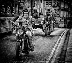 "Trev on ""The Distinguished Gentleman's Bike Ride"" York! (Missy Jussy) Tags: trevorkerr man men mentalhealthawareness prostratecancerawareness charity mono monochrome motorbike bike blackwhite bw blackandwhite streetphotography street sidewalk bridge bus transport portrait people buildings 70200mm ef70200mmf4lusm ef70200mm canon70200mm 5d canon5dmarkll canon5d canoneos5dmarkii canon outdoor outside city triumphbonnevillet120black"