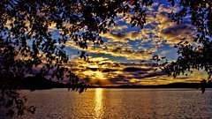 Sunset Silhouettes (Bob's Digital Eye) Tags: bobsdigitaleye canon canonefs1855mmf3556isll clouds dark flicker flickr lakesunsets sep2018 silhouette sky sunset sunsetsoverwater t3i trees water lake laquintaessenza
