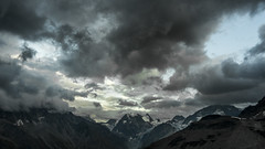 Mont Collon (Sophia Drosophila) Tags: montcollon alpen berge landschaft natur nebel schweiz valais wallis wandern unwetter dämmerung berg himmel wolken