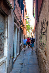 Venice Italy narrow streets with our tour.