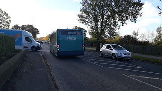 Arriva north east optare solo 2816 on the 1