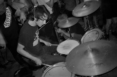 2018-10-15-0032 (fille_ennuyeuse) Tags: big zit chicago punk hardcore bands 35mm black white film ilford delta 400 delta400 analog photography normal records kevin joe eric kahler bored straight tenement tom amos coltranes animal sacrifice gas rag albion house riverwest milwaukee jj spencer
