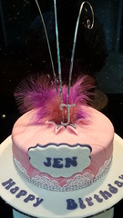 Pretty cake (Victorious_Sponge) Tags: pretty pink feathers birthday cake
