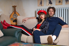 Musicians Couple (drugodragodiego) Tags: kick chiara nicola music musician electronic portrait people pentax pentaxk1 k1 hdpentaxdfa2470mmf28edsdmwr pentaxdfa2470mm