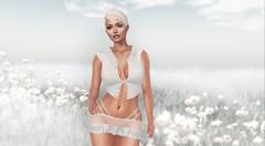 White meadow (NefrytkaResident) Tags: angelfish marketplace women girl maitreya skirt top outfit nefrytka tram mocaloup catwaclip catwa bento fashion white hud
