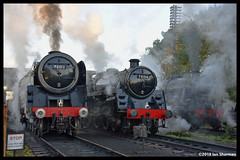 No 73156  No 70013 Oliver Cromwell No 48624 7th Oct 2018 Great Central Railway Steam Gala (Ian Sharman 1963) Tags: no 73156 7th oct 2018 great central railway steam gala class 5mt 460 70013 oliver cromwell 7mt britannia 462 station services engine rail railways train trains loco locomotive passenger freight gcr loughborough quorn woodhouse swithland rothley brook leicester north heritage line 48624